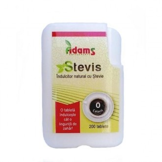 Stevis Indulcitor natural cu stevie 200 tablete Adams Vision