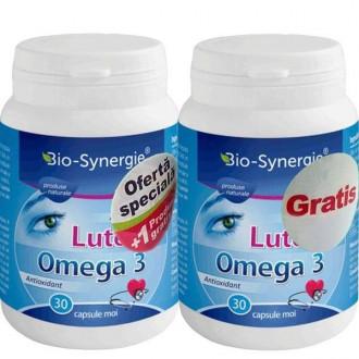 Luteina Omega 3 30cps 1+1 gratis Bio-Synergie Activ