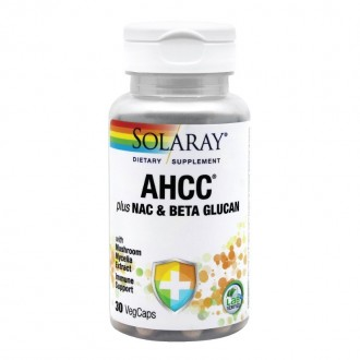 AHCC Plus NAC & Beta Glucan 30 capsule Secom