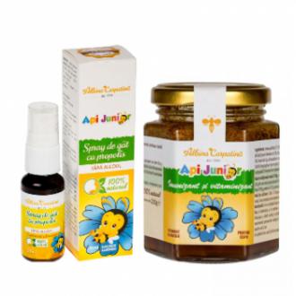 Api junior - imunizant si vitaminizant 200gr + spray de gat propolis Api junior (Gratis) 20ml