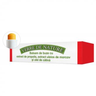 Balsam de buze cu extract de propolis, extract uleios de morcov si ulei de catina 4.8g Manicos