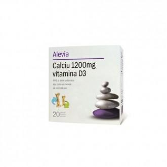 Calciu 1200 mg vitamina d3 (solubil) 20plicuri