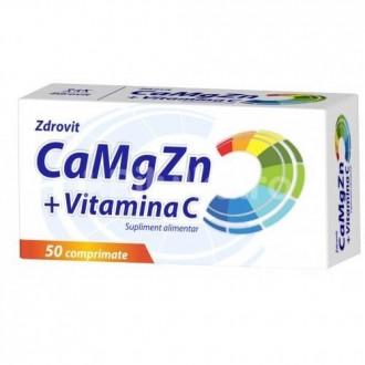 CaMgZn + Vitamina C 50 comprimate Zdrovit