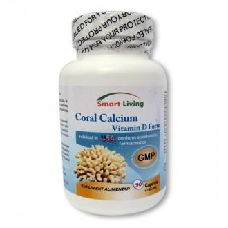 Calciu Coral si Vitamina D3 Forte 90 capsule