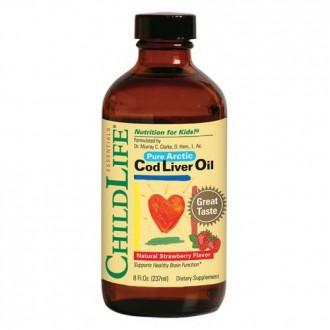Cod Liver Oil 237ml (gust de capsune) - ChildLife Essentials - Secom