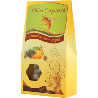 Conuri cu miere si pin 100g Apicola Pastoral Georgescu