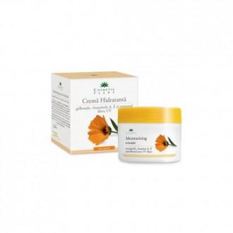 Crema hidratanta cu galbenele si vitaminele A, E si pantenol 50ml Cosmetic Plant