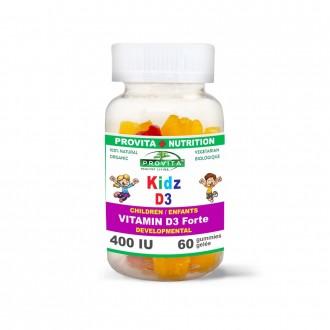 Kidz D3 400 UI 60 jeleuri masticabile