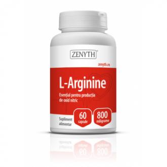 L-Arginine, 60 capsule, Zenyth