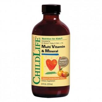 Multi Vitamin & Mineral 237ml (gust de portocale/mango) - Child Life Essentials - Secom