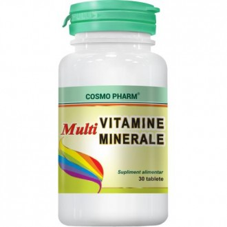 Multivitamine si Multiminerale, 30 tablete - Cosmo Pharm