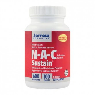 N-A-C Sustain 600mg 100tb - Jarrow Formulas - Secom