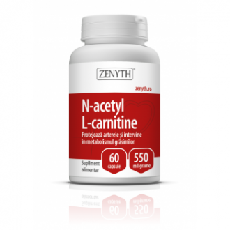 N-Acetyl L-Carnitine 550 mg, 60 capsule, Zenyth