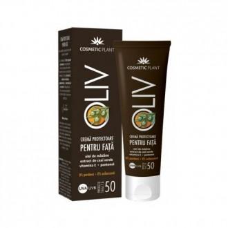 Crema protectoare fata cu ulei masline, ceai verde SPF50 50ml Cosmetic Plant