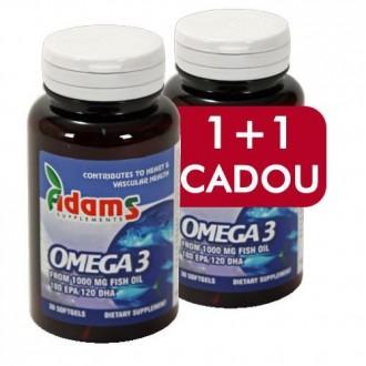 Omega 3 1000mg 1+1 gratis 30 capsule
