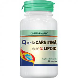 Q10gel l-carnitina acid alfa lipoic 30 capsule COSMOPHARM