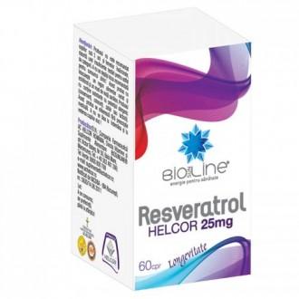 Resveratrol 25mg 60 comprimate Helcor