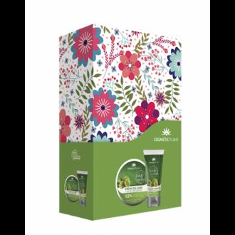 Set Cadou Body Crema pentru Corp cu Masline 200ml si Exfoliant pentru Corp cu Masline 150ml - Cosmeticplant