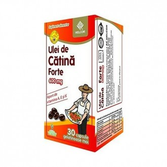 ULEI CATINA FORTE, 600MG, 30cps - Helcor