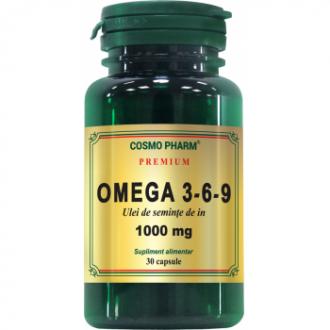 Omega 3-6-9 Ulei de Seminte de In, 30 capsule - Cosmo Pharm