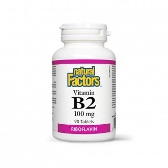 Vitamina B2 – Riboflavina – 100 mg 90 tablete
