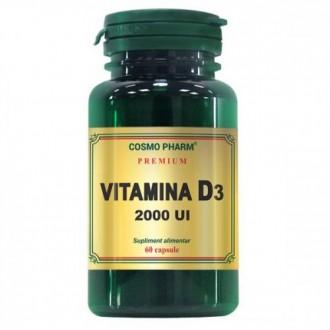 Vitamina D3, 2000 UI, 60 capsule - Cosmo Pharm
