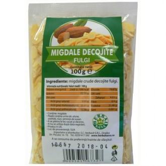 Fulgi de Migdale Crude Decojite 100g Herbavit