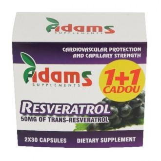 Resveratrol 50mg 30 capsule 1+1 gratis Adams Vision