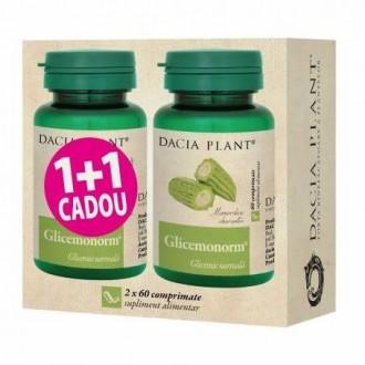Glicemonorm 60cps 1+1 Gratis - Dacia Plant